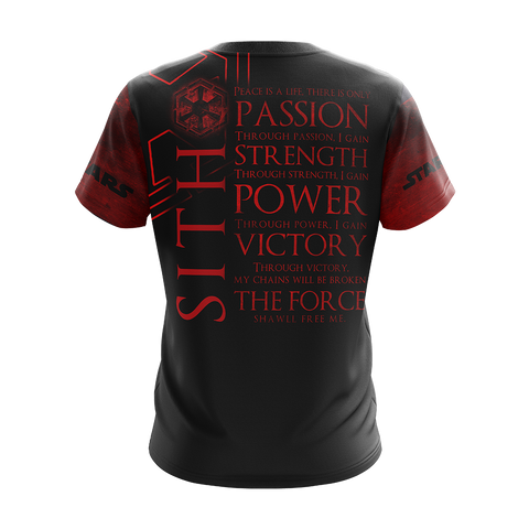 Image of Star wars - Sith code Unisex 3D T-shirt