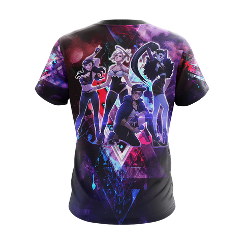 K/DA Band x Overwatch Female Characters Unisex 3D T-shirt