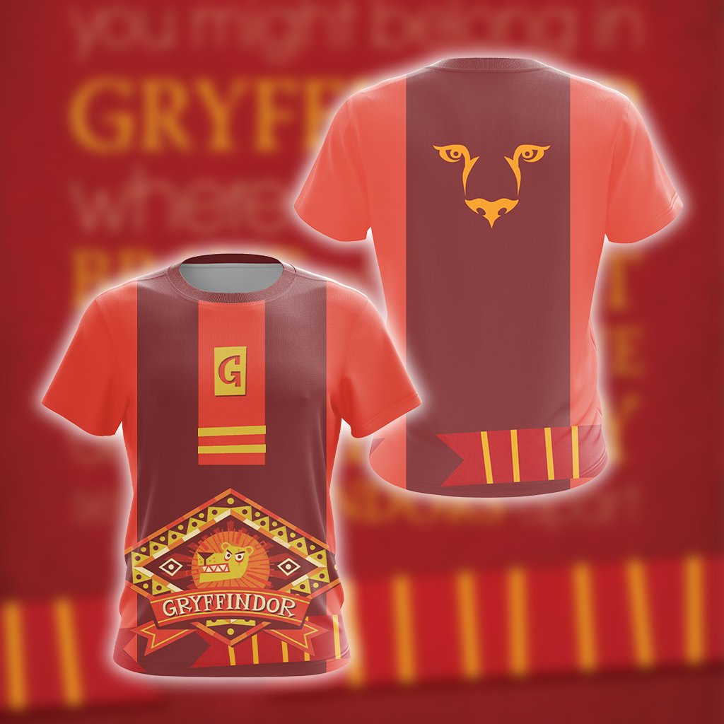 Harry Potter - Brave Like A Gryffindor New Unisex 3D T-shirt