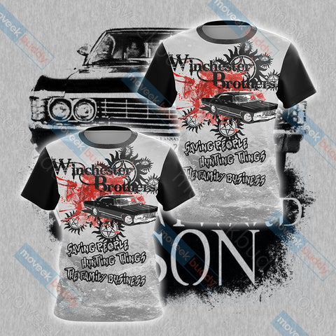 Image of Supernatural - Winchester Unisex 3D T-shirt