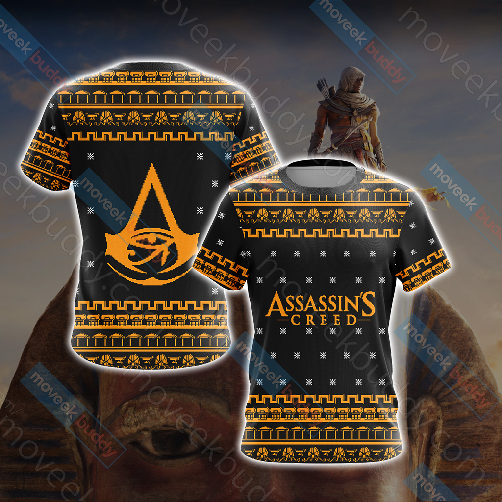 Assassin's Creed - Origins Knitting Style Unisex 3D T-shirt