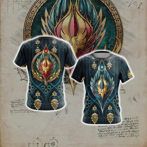 World Of Warcraft - Blood Elf Alliance Races Crest Unisex 3D T-shirt
