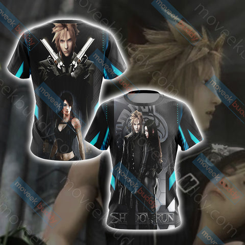 Image of Final Fantasy - Cloud and Tifa Unisex 3D T-shirt