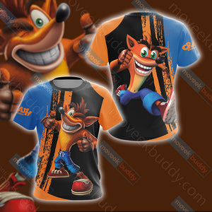 Crash Bandicoot New Look Unisex 3D T-shirt