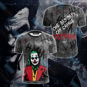 Joker - One bad day can change everything Unisex 3D T-shirt