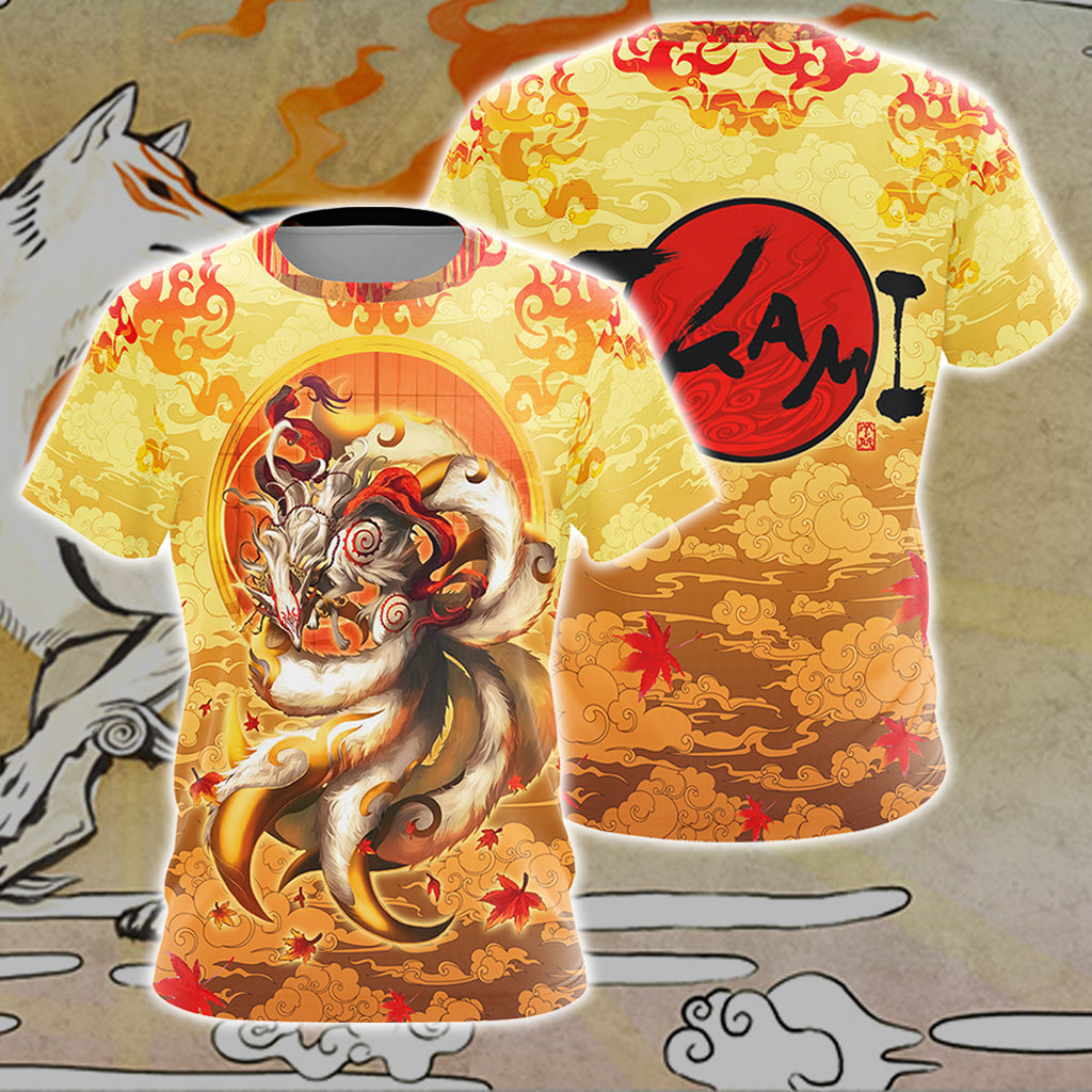 Nine Tail Okami Fox Unisex 3D T-shirt