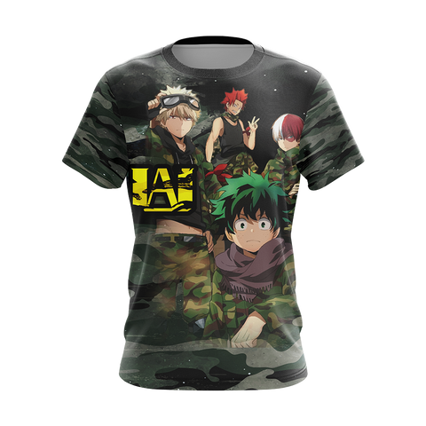 My Hero Academia in Military Uniform Unisex 3D T-shirt