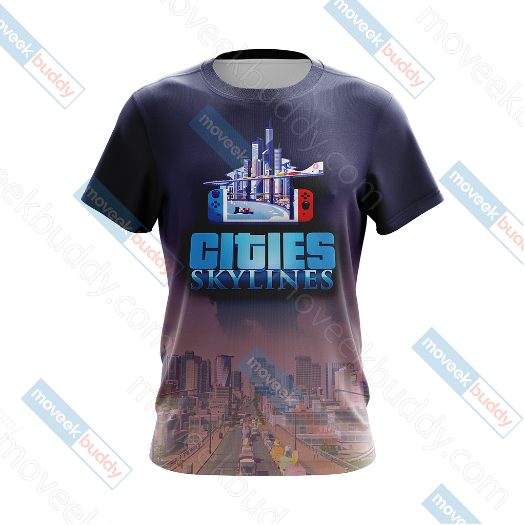 Cities: Skylines Unisex 3D T-shirt