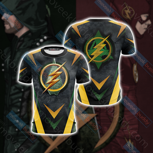 Arrow and Flash New Version Unisex 3D T-shirt
