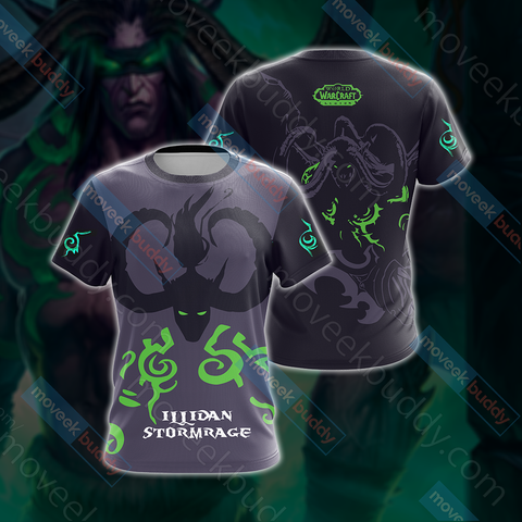 World Of Warcraft - Illidan Stormrage Unisex 3D T-shirt