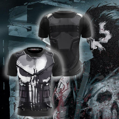 Image of The Punisher (2017) Cosplay Unisex 3D T-shirt