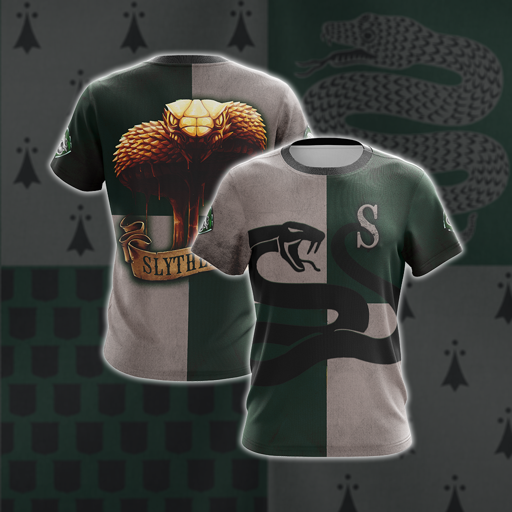 Slytherin Serpent Harry Potter New Look Unisex 3D T-shirt