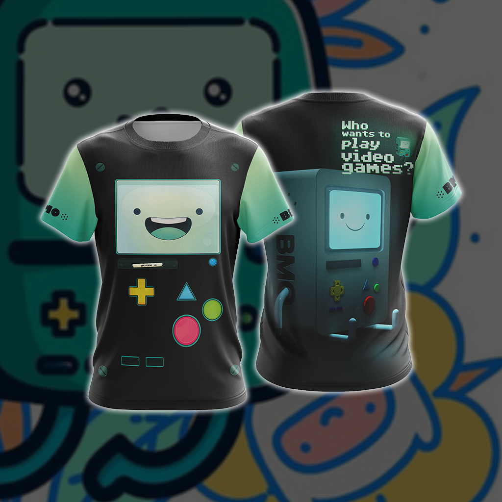Adventure Time BMO Style Unisex 3D T-shirt