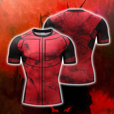 Image of Deadpool Cosplay Short Sleeve Compression T-shirt