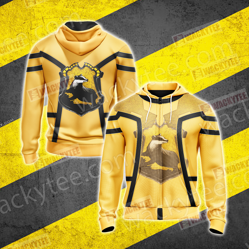 Harry Potter - Hufflepuff Unisex Zip Up Hoodie