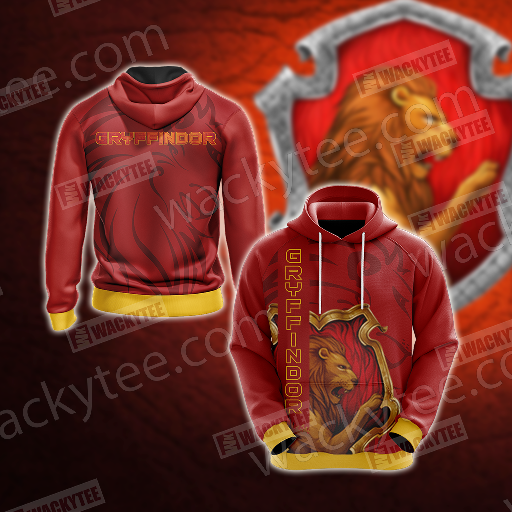 Gryffindor - The Braverest Harry Potter 3D Hoodie
