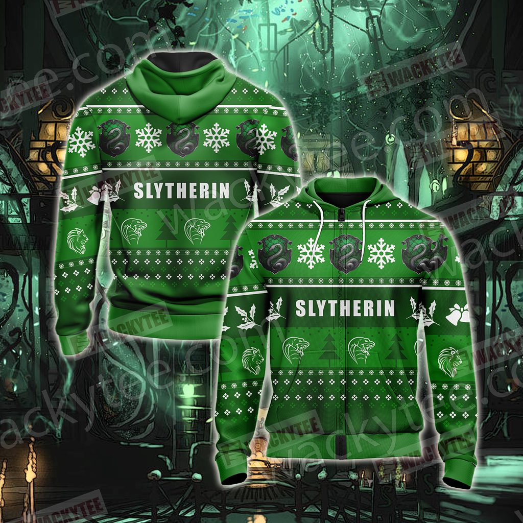Harry Potter - Slytherin House New Version Unisex Zip Up Hoodie