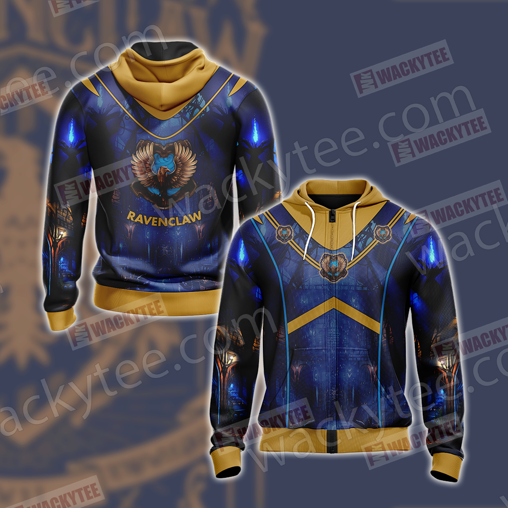 Hogwarts Harry Potter - Ravenclaw House New Version Unisex Zip Up Hoodie