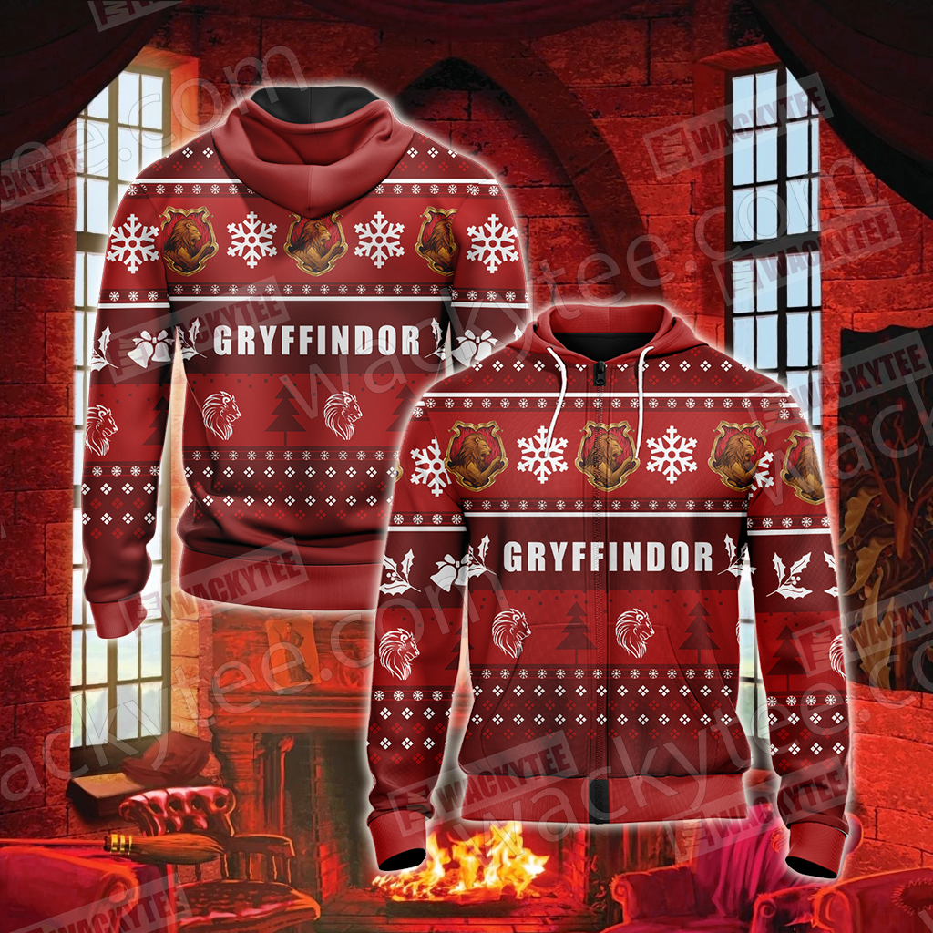 Harry Potter - Gryffindor House New Version  Unisex Zip Up Hoodie
