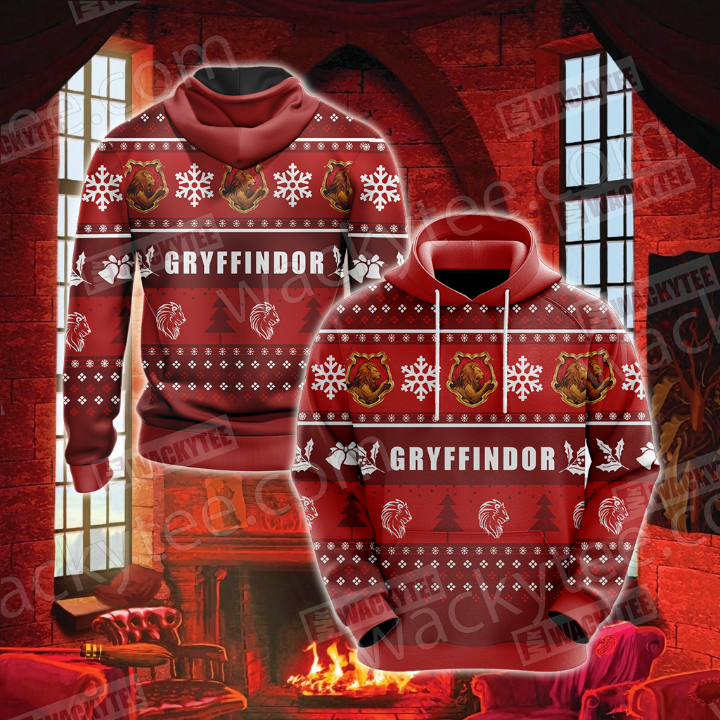 Harry Potter - Gryffindor House New Version Unisex 3D Hoodie