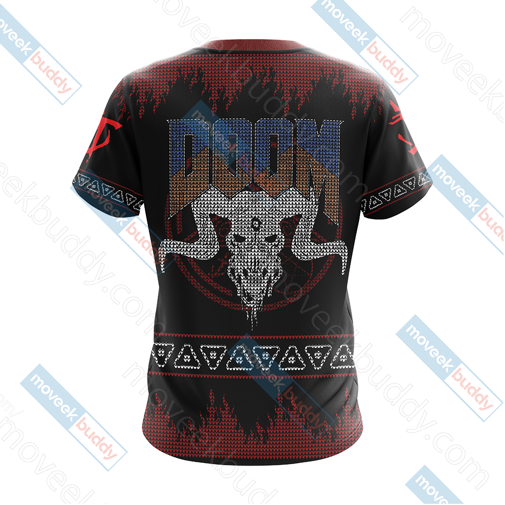 Doom Knitting Style Unisex 3D T-shirt