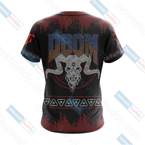 Image of Doom Knitting Style Unisex 3D T-shirt