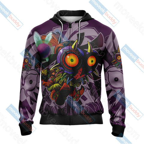 The legend of Zelda: Majora Unisex Zip Up Hoodie