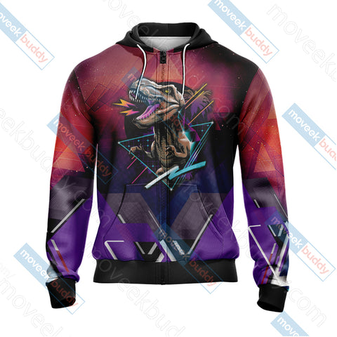 Image of Jurassic Park Unisex Zip Up Hoodie