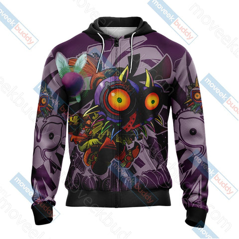 Image of The Legend Of Zelda: Majora's Mask Unisex 3D T-shirt Zip Hoodie Pullover Hoodie