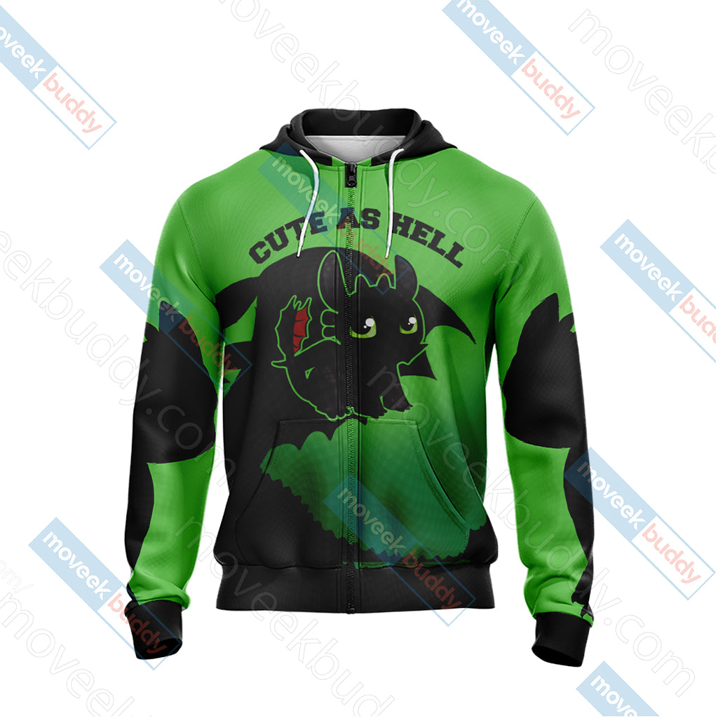 How To Train Your Dragon - Toothless Unisex Zip Up Hoodie Jacket
