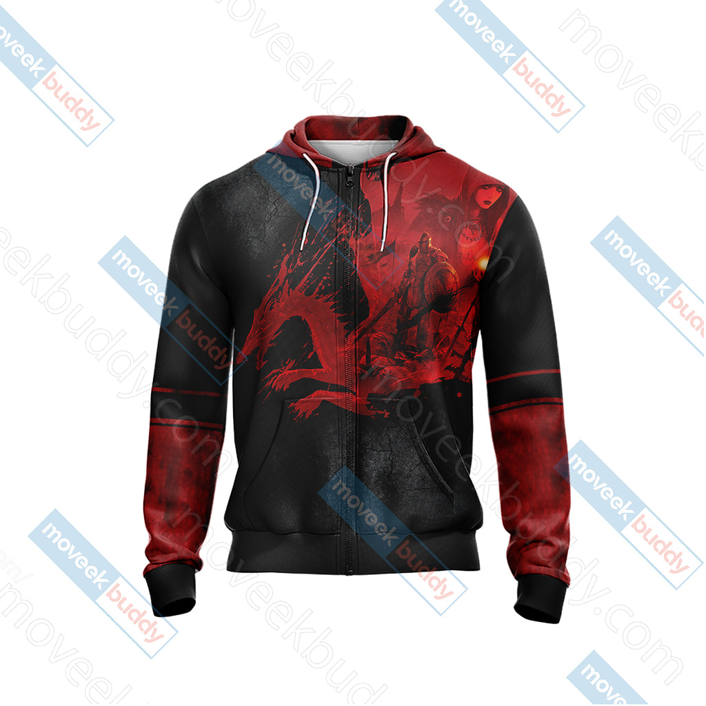 Dragon Age Origins Unisex Zip Up Hoodie Jacket