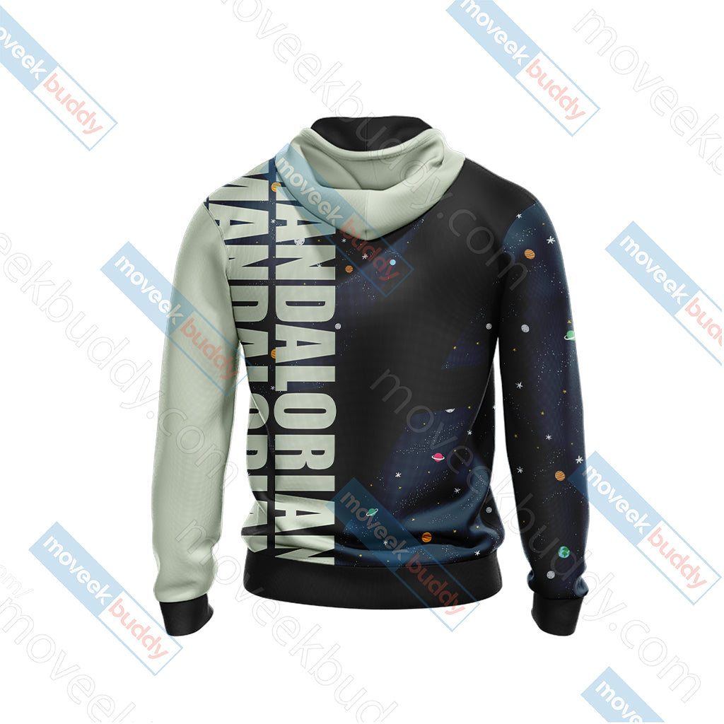 Star Wars - The Mandalorian The Child Cartoon Unisex Zip Up Hoodie Jacket
