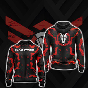 Overwatch - Blackwatch New Style Zip Up Hoodie