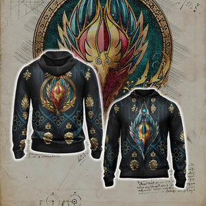 World Of Warcraft - Blood Elf Alliance Races Crest Unisex Zip Up Hoodie