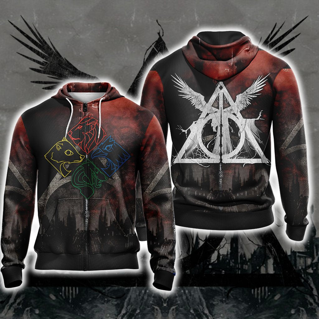 Harry Potter New Unisex Zip Up Hoodie