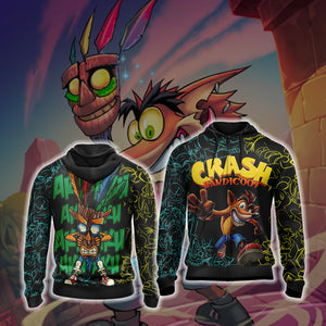 Crash Bandicoot New Unisex Zip Up Hoodie