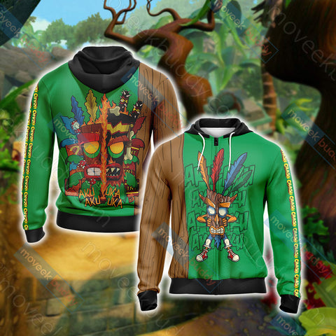 Image of Crash Bandicoot New Unisex Zip Up Hoodie Jacket