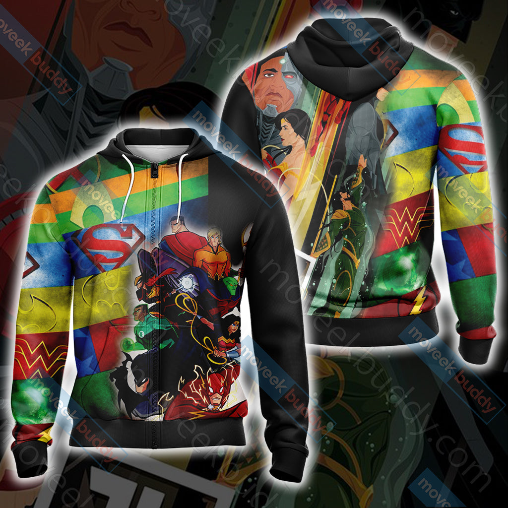 Justice League New Collection Unisex Zip Up Hoodie Jacket