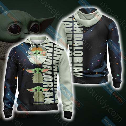 Image of Star Wars - The Mandalorian The Child Cartoon Unisex Zip Up Hoodie Jacket