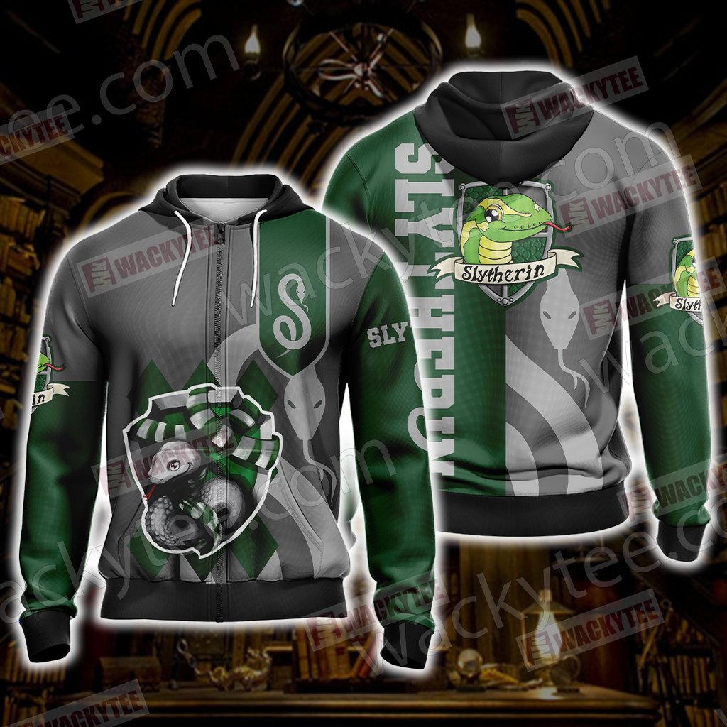 Harry Potter - Slytherin House New Wackystyle Unisex Zip Up Hoodie