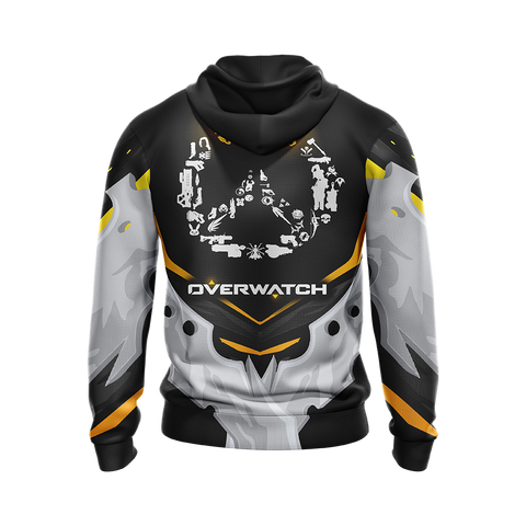 Overwatch Weapons Logo Unisex Zip Up Hoodie