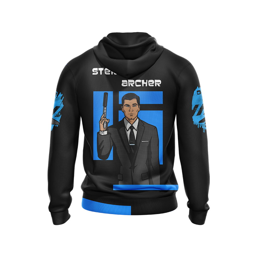 Sterling Archer Unisex Zip Up Hoodie