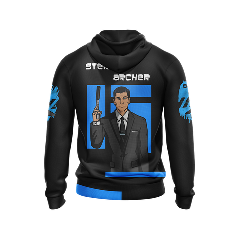 Image of Sterling Archer Unisex Zip Up Hoodie