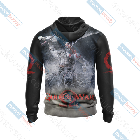 Image of God Of War New Look Unisex Zip Up Hoodie Jacket