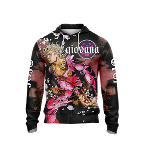 Jojo's Bizarre Adventure - Giovana Unisex Zip Up Hoodie