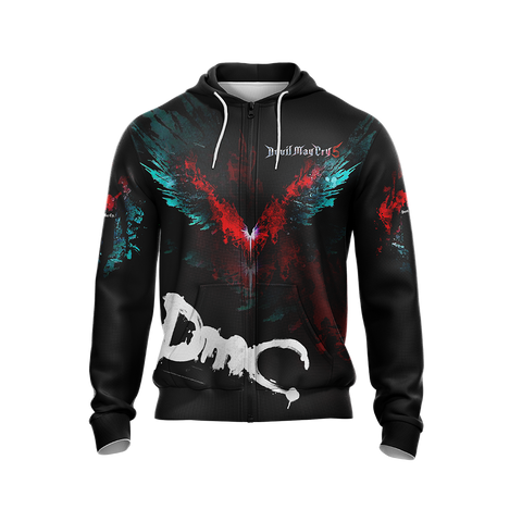Devil May Cry 5 Unisex Zip Up Hoodie