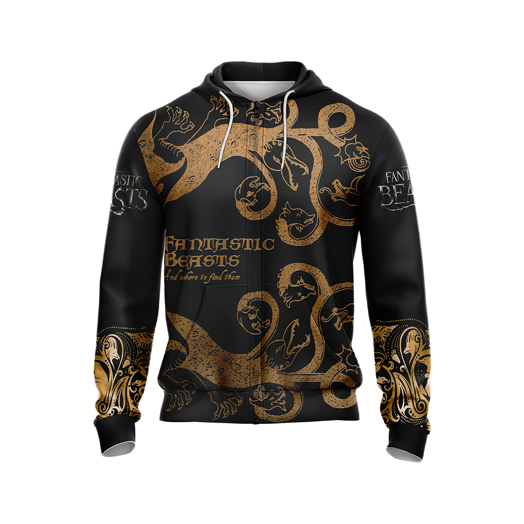Fantastic Beasts Style Unisex Zip Up Hoodie