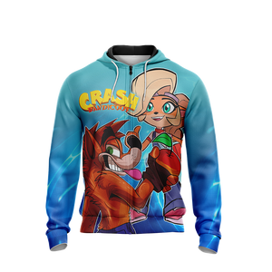 Crash Bandicoot - Crash and Coco Unisex Zip Up Hoodie