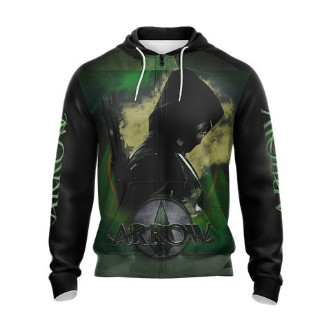 Image of Arrow (tv series) Unisex Zip Up Hoodie