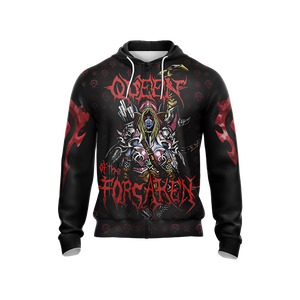 World Of Warcraft - Queen of the Forsaken Unisex Zip Up Hoodie